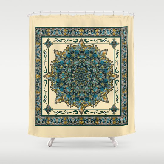 Stained Glass Mandala 2 Shower Curtain By DebS Digs Photo
