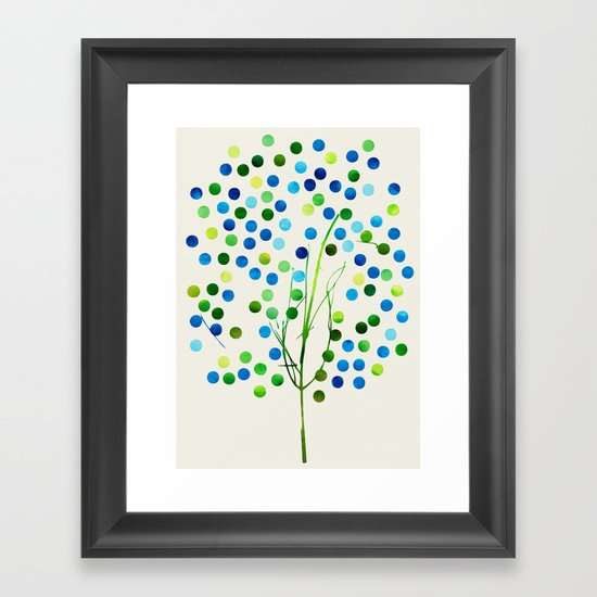 Tree of Life_Aqua by Jacqueline and Garima Framed Art Print
