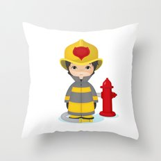 Fireman Throw Pillow