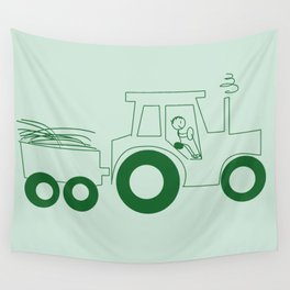 Happy Farmer [TRACTOR] Wall Tapestry