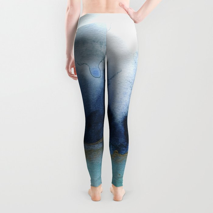 Mystic abstract watercolor Leggings
