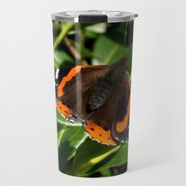 Red Admiral Butterfly in the bush Travel Mug