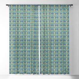 Circle Circulation (Pattern) Sheer Curtain