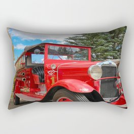 The Grand Lake Lodge Fire Engine in Fall Rectangular Pillow