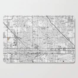 Vintage Map of Phoenix Arizona (1952) 2 BW Cutting Board