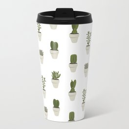 Cacti & Succulents - White Travel Mug