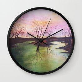 154, watercolor Wall Clock