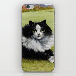 Black & White Kitty - Louis Wain Cats iPhone Skin