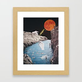 Remembering the SuperMoon Framed Art Print