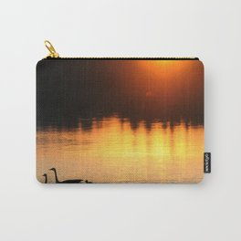 Canada Geese Family Sunset Carry-All Pouch