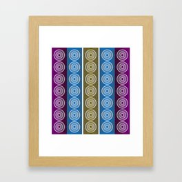 Purple Cornflower Pattern Framed Art Print