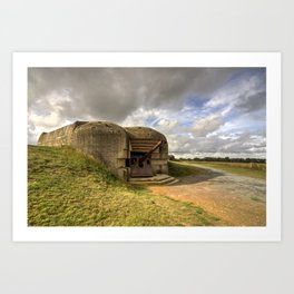 Normandy gun  Art Print