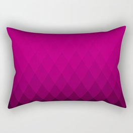 Pink ombre triangles Rectangular Pillow