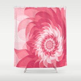 Pink fractal flower Shower Curtain