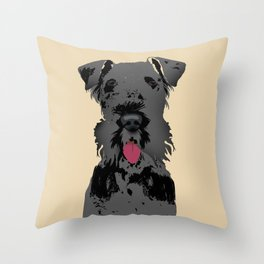 Kerry Blue Terrier Dog Throw Pillow