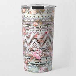 Floral Aztek Pattern 3 Travel Mug