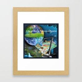 Life is like a Board Game Framed Art Print