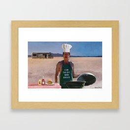 Heisenburgers - Walter White - Breaking Bad Framed Art Print