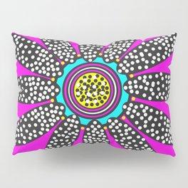 daisy dot with blue spot Pillow Sham
