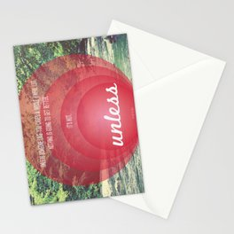 Unless | Red Stationery Cards