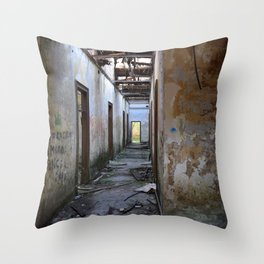 Abandoned Cotton Factory Throw Pillow