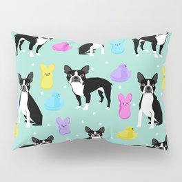 Boston Terrier dog breed peeps marshmallow treat easter spring traditions boston terriers Pillow Sham