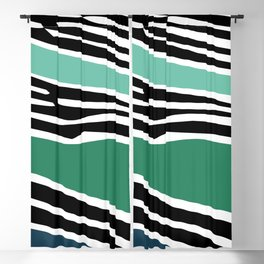 Colorful abstract shapes with zebra print decoration 2 Blackout Curtain