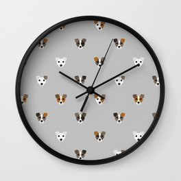 Jack Russell puppies Wall Clock