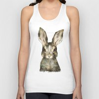furry Tank Tops featuring Little Rabbit by Amy Hamilton