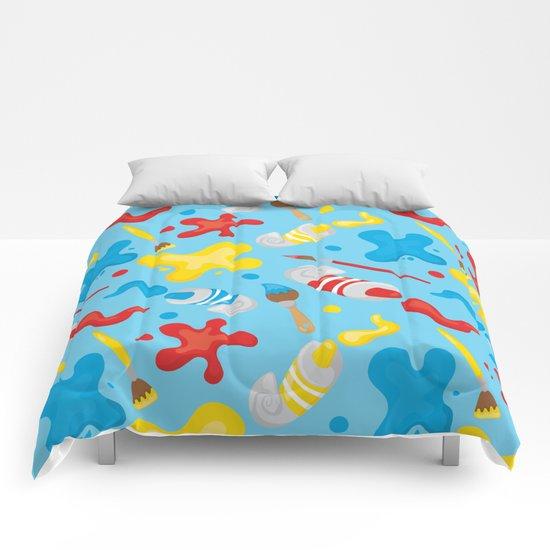 Paint Splatters #2 Comforters