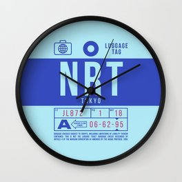 Luggage Tag B - NRT Tokyo Japan Wall Clock