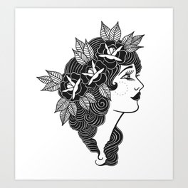 Pinup Profile Art Print