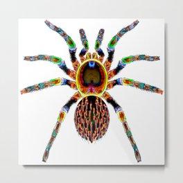 Jungle Colors Spider Metal Print