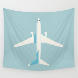737 Passenger Jet Airliner Aircraft - Sky Wall Tapestry