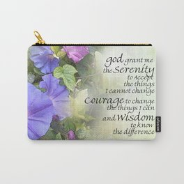 Serenity Prayer Morning Glories Glow Carry-All Pouch
