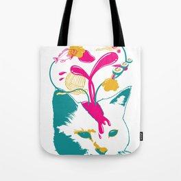 Liquid thoughts:Cat Tote Bag