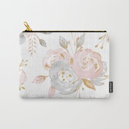 Roses Gold Glitter Pink by Nature Magick Carry-All Pouch