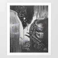 scary Art Prints featuring Scary by BH1215