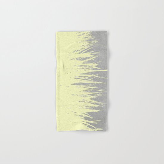 Concrete Fringe Yellow Hand & Bath Towel