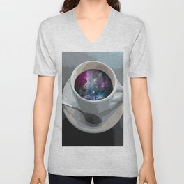 galaxy coffee Unisex V-Neck