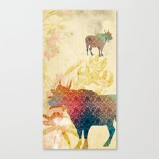 Chinese Lunar New Year and 12 animals ❤ The OX 牛 Canvas Print