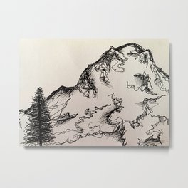 Mt. Rainer Metal Print