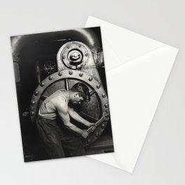 Industrial Art  - Lewis Hine - Power House Mechanic, 1920 Stationery Cards