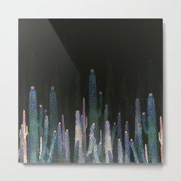 cactus at nigth Metal Print