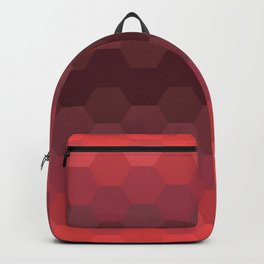 Red Honeycomb Backpack