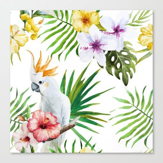 Tropical Bird Pattern 03 Canvas Print