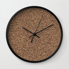 Buckweat. Background. Wall Clock