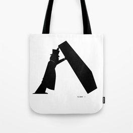 Lone Worker - Funeral Pop Art Tote Bag