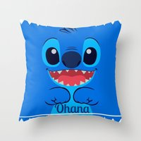 ohana Throw Pillows featuring Ohana. by S J A E