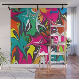 Colorful marble design Wall Mural
